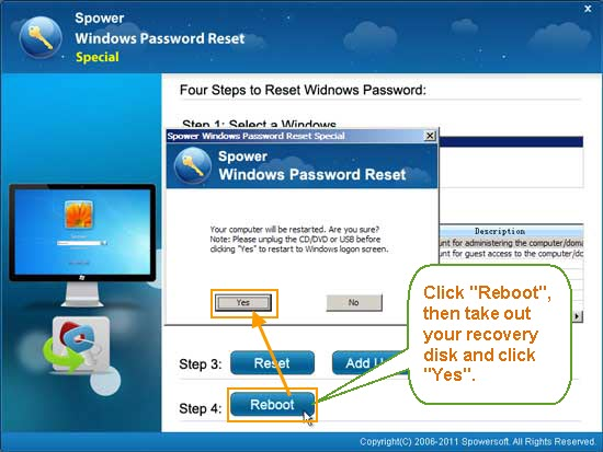 Reset Windows Password on HP Smart Array RAID Controller